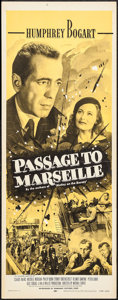 "Movie Posters:War, Passage to Marseille (Dominant, R-1956). Insert (14"" X 36""). War....."