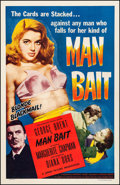 "Movie Posters:Crime, Man Bait (Lippert, 1952). One Sheet (27"" X 41""). Crime.. ..."