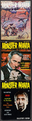 "Monster Mania (Renaissance Productions, 1966/1967). Magazines (3) (Multiple Pages, 8.5"" X 11""). Horror. ... (T..."