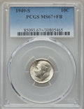 Roosevelt Dimes, 1949-S 10C MS67+ Full Bands PCGS....