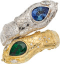 Estate Jewelry:Rings, Sapphire, Tsavorite Garnet, Diamond, Gold Ring. ...