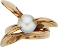 Estate Jewelry:Rings, Cultured Pearl, Gold Ring, Antonio Pineda. ...