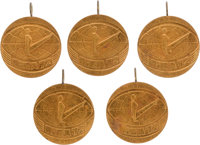 1972 Olga Korbut Riga International Championships Gold Medals Lot of 5 from The Olga Korbut Collection