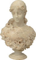 Fine Art - Sculpture, European:Antique (Pre 1900), A Ferdinando Vichi Italian Carved Marble Bust of a Woman, late 19thcentury. Marks: Fa Vichi, Firenze. 23-1/2 inches hig...