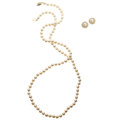 Estate Jewelry:Lots, Cultured Pearl, Diamond, Gold Jewelry. . ... (Total: 3 Items)