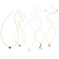 Estate Jewelry:Necklaces, Diamond, Multi-Stone, South Sea Cultured Pearl, Gold Pendant-Necklaces. ... (Total: 5 Items)