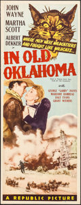"""Movie Posters:Western, In Old Oklahoma (Republic, 1943). Insert (14"""" X 36""""). Western.. ..."""