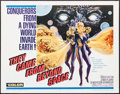 "Movie Posters:Science Fiction, They Came from Beyond Space (Embassy, 1967). Half Sheet (22"" X28""). Science Fiction.. ..."