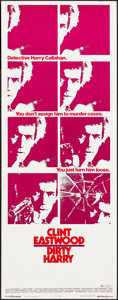 "Movie Posters:Crime, Dirty Harry (Warner Brothers, 1971). Insert (14"" X 36""). Crime....."