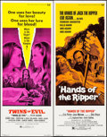 "Movie Posters:Horror, Twins of Evil & Other Lot (Universal, 1971). Inserts (2) (14"" X36""). Horror.. ... (Total: 2 Items)"