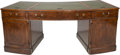 """Furniture : American, A George III-Style Executive Desk owned by """"The Wolf of WallStreet"""" Jordan Belfort, late 20th century. 31-1/4 h x 79 w x 35..."""
