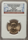 Presidential Dollars, 2014-P $1 Calvin Coolidge, Position B MS68 NGC. ...
