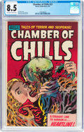 Golden Age (1938-1955):Horror, Chamber of Chills #23 (Harvey, 1954) CGC VF+ 8.5 Off-white to whitepages....
