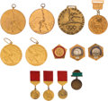 Olympic Collectibles:Autographs, 1968-76 Olga Korbut Medals and Pins Lot of 12 from The Olga KorbutCollection. ...