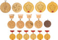 Olympic Collectibles:Autographs, 1970's Olga Korbut Medals Lot of 16 from The Olga KorbutCollection. ...