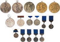 1967-75 Olga Korbut Medals Lot of 16 from The Olga Korbut Collection
