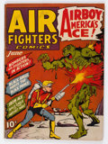 Golden Age (1938-1955):War, Air Fighters Comics #9 (Hillman Fall, 1943) Condition: VG-....