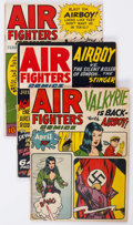 Golden Age (1938-1955):War, Air Fighters Comics #10 and V2#5-7 Group (Hillman Fall, 1943-44)Condition: Average GD/VG.... (Total: 4 Comic Books)