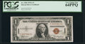 Small Size:World War II Emergency Notes, Fr. 2300 $1 1935A Hawaii Silver Certificate. PCGS Very Choice New 64PPQ.. ...