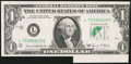 Error Notes:Foldovers, Fr. 1907-L $1 1969D Federal Reserve Note. Choice CrispUncirculated.. ...