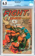Golden Age (1938-1955):War, Fight Comics #44 (Fiction House, 1946) CGC FN+ 6.5 Off-white towhite pages....