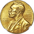 World Medals, 1946 Nobel Committee 23K Gold Medal, MS63 NGC. ...