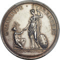 Betts Medals, Betts-417. 1759 Guadeloupe Surrenders. Silver. AU58 PCGS....