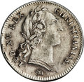 Betts Medals, Betts-385 Variant. 1751 Franco American Jeton. Silver. VF30Uncertified....