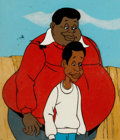 Animation Art:Production Cel, Fat Albert and the Cosby Kids Fat Albert and Bill ProductionCel Setup with Master Background (Filmation, 1972).... (Total: 5 )