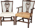 Furniture : American, A Suite of Fourteen Chippendale-Style Carved Mahogany DiningChairs, 20th century. 37-1/2 h x 23-1/4 w x 23-1/2 d inches (95...(Total: 14 Items)