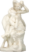 Fine Art - Sculpture, European:Antique (Pre 1900), Joseph Marie Thomas Lambeaux (Belgian, 1852-1908). L'Ivresse etl'amour. Marble. 34 inches (86.4 cm) high. Inscribed on ...