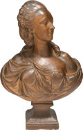 Fine Art - Sculpture, European:Antique (Pre 1900), After Augustin Pajou (French, 1730-1809). Portrait de LaComtesse du Barry . Patinated terracotta. 26 inches (66.0 cm)h...
