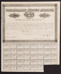 Confederate Notes:Group Lots, Ball 384 Cr. 165 $1000 Bond 1864 Fine. . ...