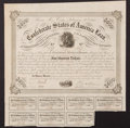 Confederate Notes:Group Lots, Ball 220 Cr. 121A $500 1863 Bond Fine.. ...