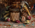 Fine Art - Painting, American:Contemporary   (1950 to present)  , Cyrus Afsary (American, b. 1940). Indian Still Life. Oil oncanvas. 16 x 20 inches (40.6 x 50.8 cm). Signed and inscribe...