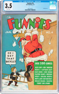 Platinum Age (1897-1937):Miscellaneous, The Funnies #4 (Dell, 1937) CGC VG- 3.5 Brittle pages....