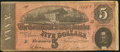 "Confederate Notes:1864 Issues, ""Representing Nothing on God's Earth Now"" Confederate Poem T69 $5 1864 PF-7 Cr. 561.. ..."
