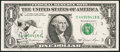 Error Notes:Ink Smears, Fr. 1911-C $1 1981 Federal Reserve Note. Extremely Fine.. ...