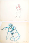 Animation Art:Production Drawing, Beauty and the Beast Belle and Maurice Animation DrawingsGroup of 2 (Walt Disney, 1991).. ...