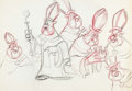 animation art:Model Sheet, The Prince and the Pauper Archbishop Practice Model Sheet (Walt Disney, 1990)....