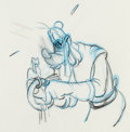 Animation Art:Production Drawing, The Prince and the Pauper Goofy Animation Drawing (WaltDisney, 1990)....