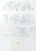 "Animation Art:Production Drawing, Disney ""Dog and Cat"" Christmas Ornaments Original Drawings (WaltDisney, c. 1990s)...."