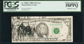 Error Notes:Ink Smears, Fr. 1980-F $5 1988A Federal Reserve Note. PCGS Choice About New58PPQ.. ...