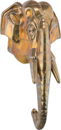 Bronze:Contemporary, Sergio Bustamante (Mexican, b. 1949). Elephant's Head.Welded brass and copper. 34 inches high (86.4 cm). ...