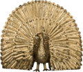 Bronze:Contemporary, Sergio Bustamante (Mexican, b. 1949). Peacock. Welded brassand copper. 46 inches high x 56 inches wide (116.8 x 142.2 c...