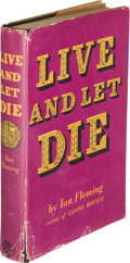 Books:Mystery & Detective Fiction, [James Bond]. Ian Fleming. Live and Let Die. London:Jonathan Cape, [1954]. First edition, serif faint on the signat...
