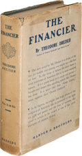 Books:Literature 1900-up, Theodore Dreiser. The Financier. New York: Harper &Brothers, 1912. First edition....