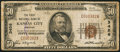 National Bank Notes:Missouri, Kansas City, MO - $50 1929 Ty. 1 The First NB Ch. # 3456. ...