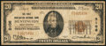 National Bank Notes:West Virginia, Huntington, WV - $20 1929 Ty. 1 The First Huntington NB Ch. # 3106....