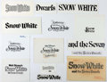 Animation Art:Production Drawing, Snow White Title Cards for Consumer Products Group of 14(Walt Disney, c. 1960s-80s).... (Total: 14 Original Art)